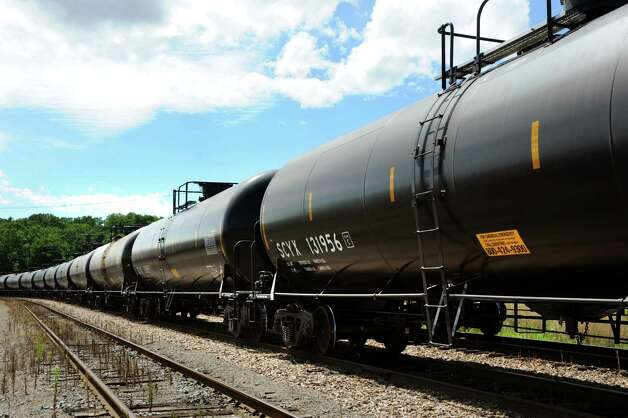 Oil tankers in Kenwood Yard on Saturday, Aug. 10, 2013, in Albany, N.Y. (Cindy Schultz / Times Union)