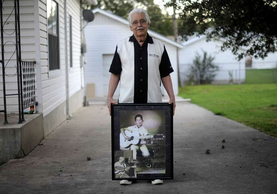 """Jesus """"Chucho"""" Perales was the legendary guitarist for the first Chicano rock 'n' roll band — Mando & the Chili Peppers. He received his first guitar at 8; by 10 had mastered chords. Photo: Express-News File Photo / © 2012 San Antonio Express-News"""