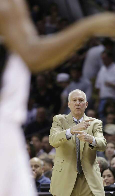 Spurs coach Gregg Popovich has a test preparing his team for a return to the scene of last season's disappointments. Photo: Eric Gay / Associated Press / AP