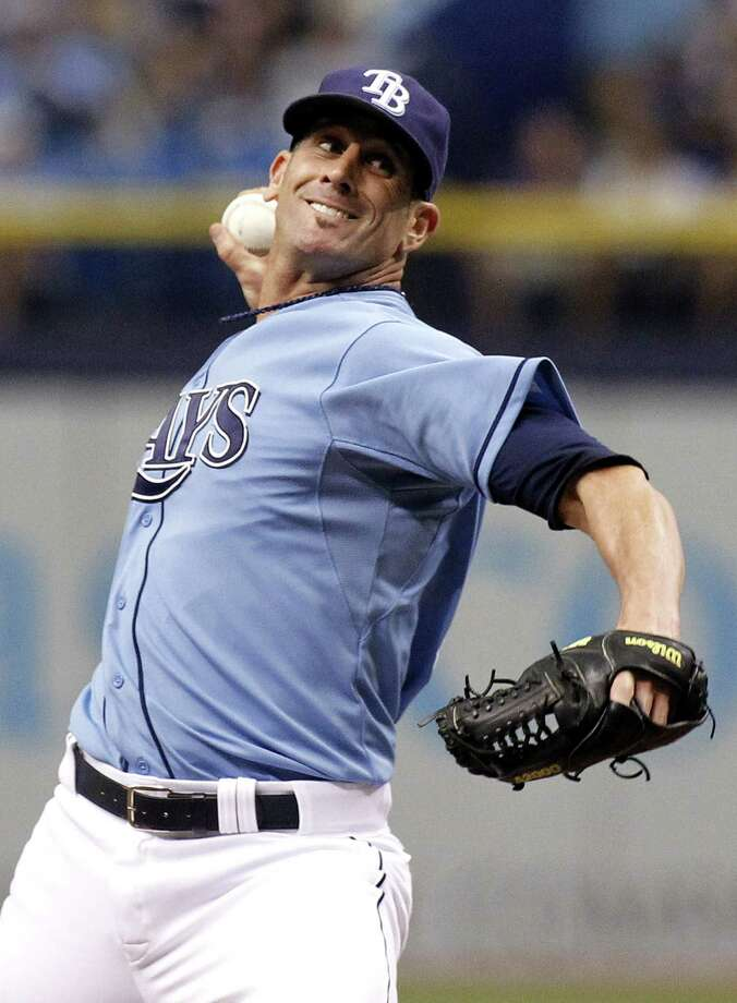 ST. PETERSBURG, FL - JUNE 8:  Grant Balfour #50 of the Tampa Bay Rays pitches during the ninth inning of a game against the Seattle Mariners on June 8, 2014 at Tropicana Field in St. Petersburg, Florida.  (Photo by Brian Blanco/Getty Images) Photo: Brian Blanco, Stringer / 2014 Getty Images