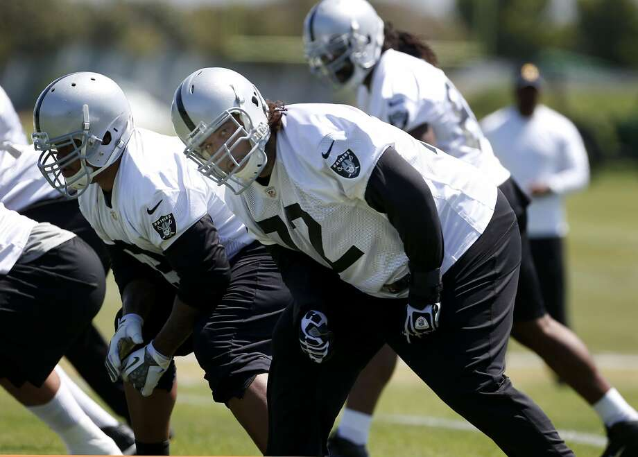 According to head coach Dennis Allen, left tackle Donald Penn could add some security for quarterback Matt Schaub. Photo: Brant Ward, The Chronicle