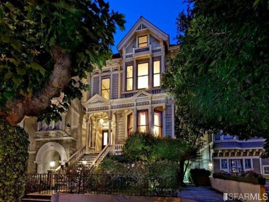 Imposing facade. Photos: MLS/Redfin/Barbara Callan, McGuire Real Estate