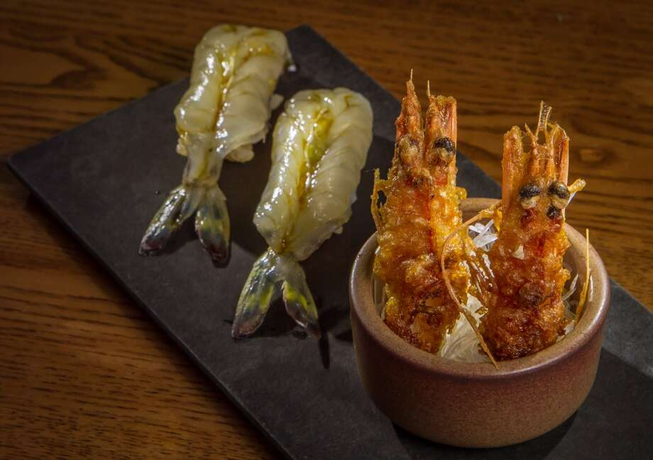 Akiko's: Madagascar blue shrimp  with fried heads. Photo: John Storey, Special To The Chronicle