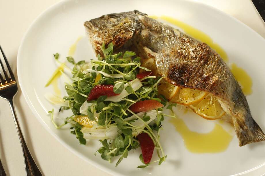 Bottega, Yountville: Wood-oven roasted whole fish stuffed with herbs and Meyer lemon. Photo: Craig Lee, The Chronicle