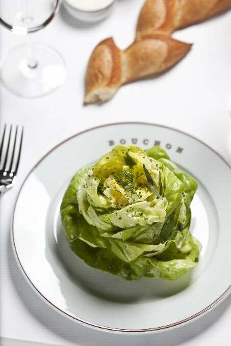 Bouchon, Yountville: The classic butter lettuce salad gets a boost from the tangy house vinaigrette and tarragon and other herbs from the French Laundry Garden. Photo: Jason Henry, Special To The Chronicle