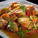 Lers Ros: Stir-fried pork belly.