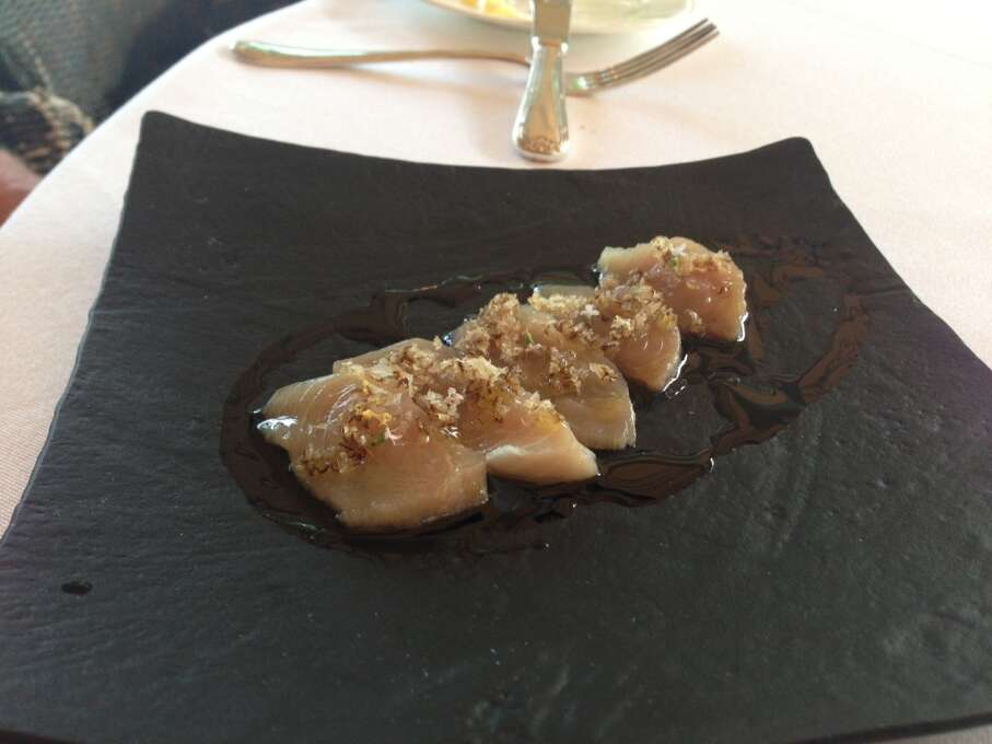 Madrona Manor, Healdsburg: The fixed-price menu changes but the raw fish presentations are always exceptional.