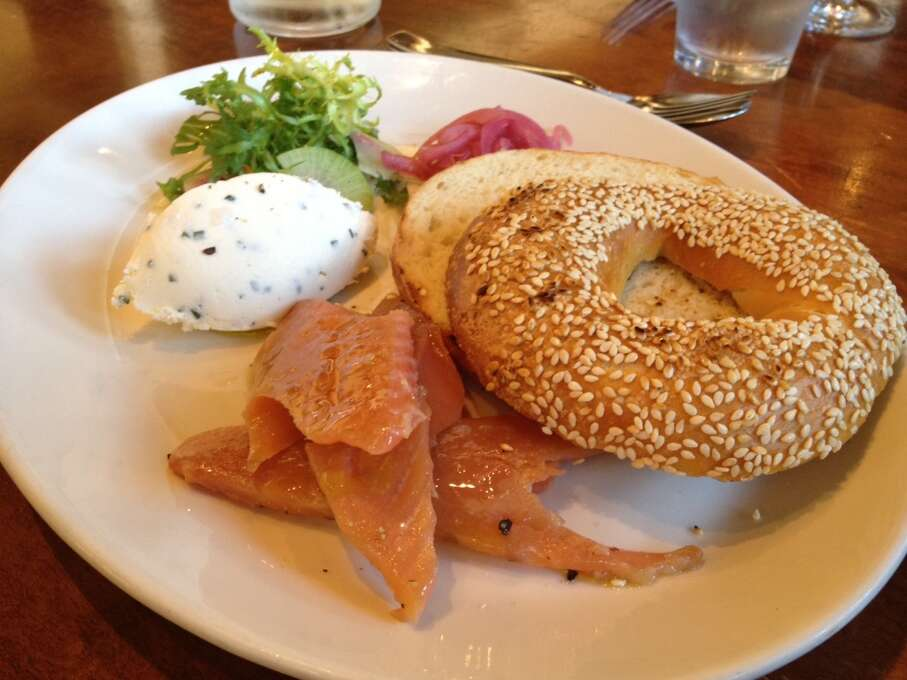 Nopa: House-made bagels with McFarland Springs smoked trout. Served at brunch.