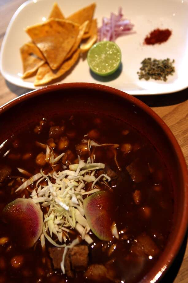 Nopalito: Pozole rojo. Photo: Liz Hafalia, The Chronicle