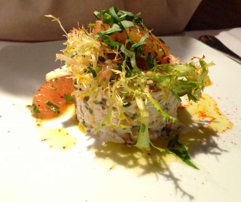 Piperade: Crab salad with orange, grapefruit, basil and aioli.