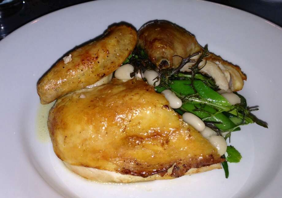 Range: Roasted chicken always comes out bronzed and succulent.