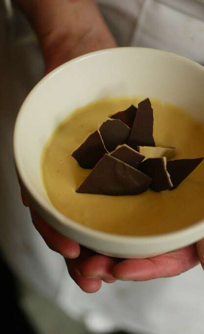 Town Hall: Butterscotch and chocolate pot de creme. Photo: MIKE KEPKA, The San Francisco Chronicle
