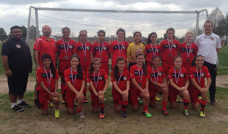 The Alamo Heights Fort Sam Houston Fire Red 01 girls' soccer team will compete in the President's Cup in Alabama and, later this year, in the Welsh International Super Cup in Cardiff. Photo: Courtesy Photo