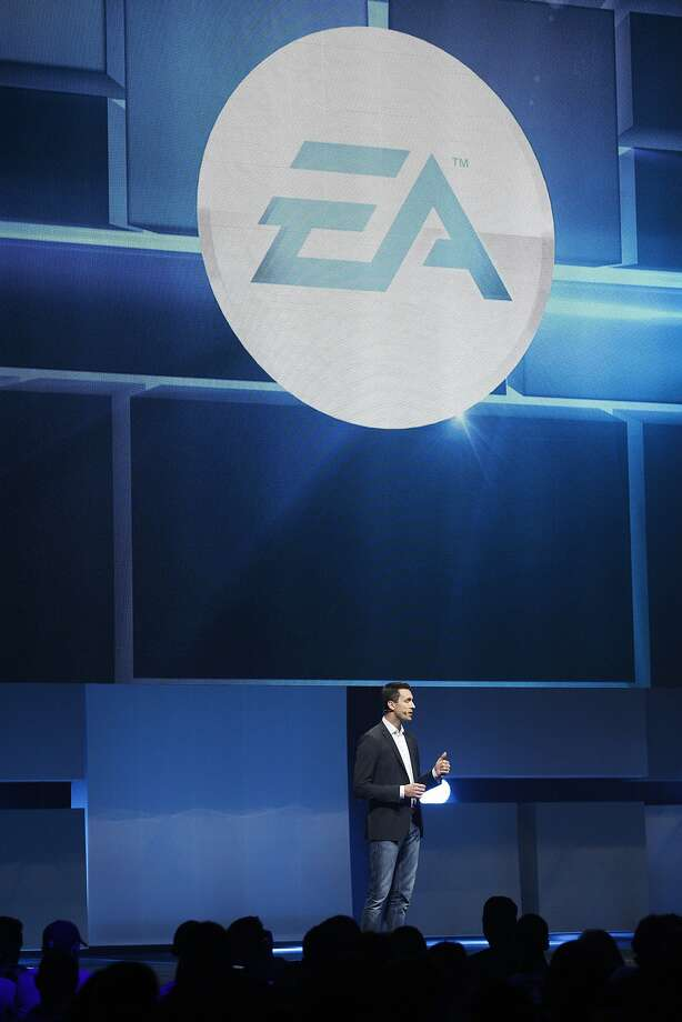Patrick Soderlund, EVP of EA Studios, speaks during the EA press conference for the Electronic Entertainment Expo at Shrine Auditorium June 9, 2014 in Los Angeles, California. The annual video game conference and show runs from June 10-12. Photo: Dan R. Krauss, Getty Images