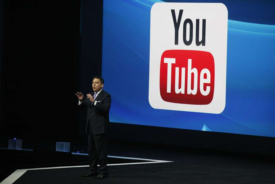 Sony President Andrew House introduces Sony's new business relationship with YouTube at their press conference at E3 June 9, 2014 in Los Angeles, California. The annual video game conference and show runs from June 10-12.  Photo: Dan R. Krauss, Getty Images