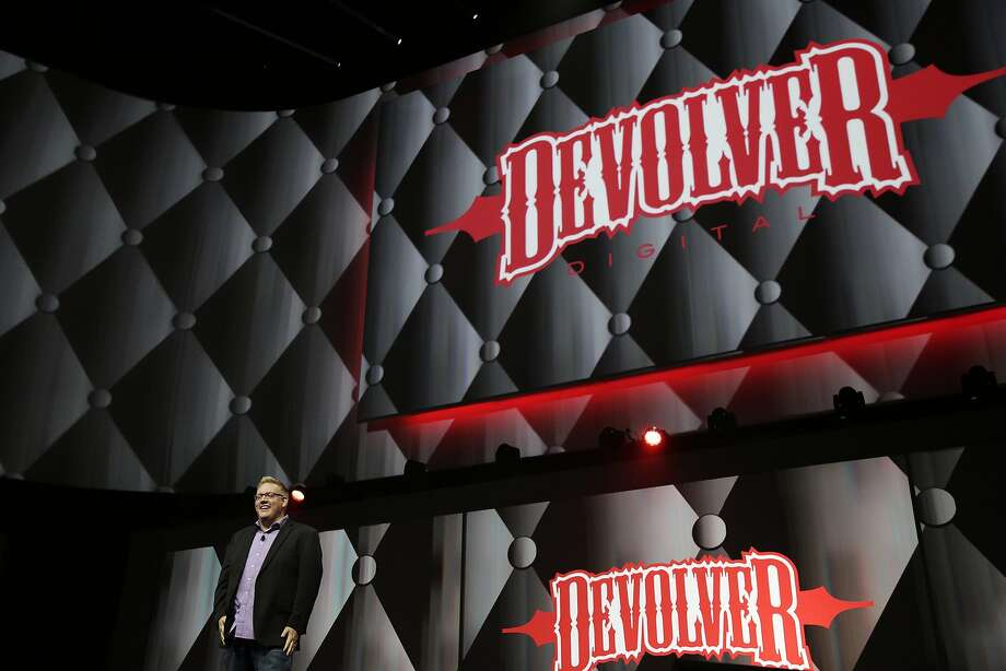 Adam Boyes, Sony VP, introduces Devolver during their press conference at E3 June 9, 2014 in Los Angeles, California. The annual video game conference and show runs from June 10-12. Photo: Dan R. Krauss, Getty Images