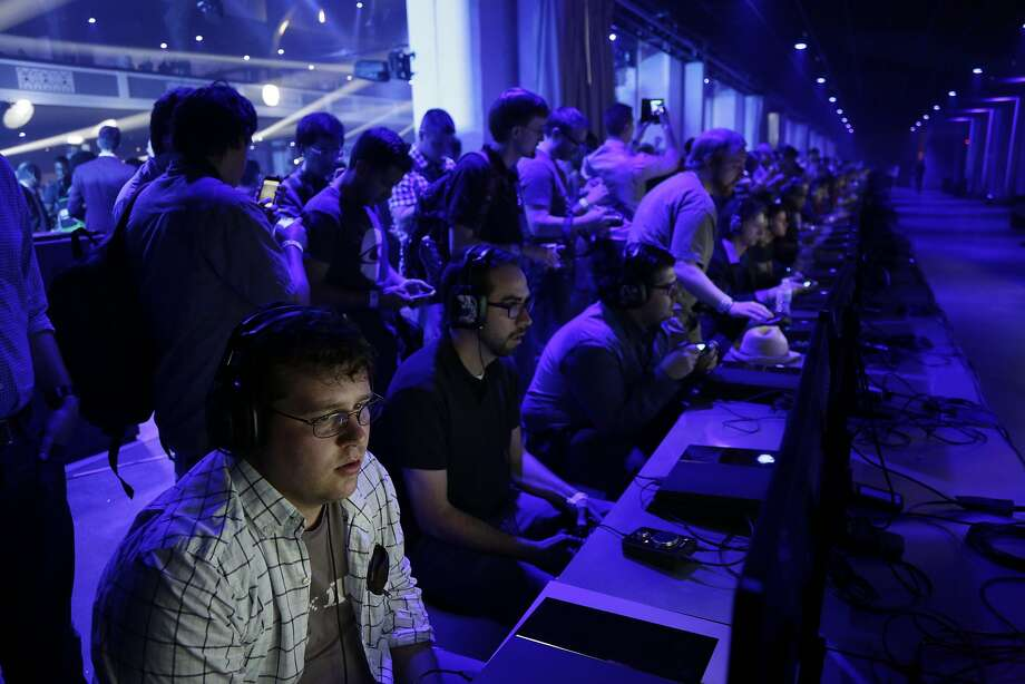 Demos of Battlefield Hardline were available for play during the Electronic Entertainment Expo press conference at Shrine Auditorium June 9, 2014 in Los Angeles, California. The annual video game conference and show runs from June 10-12.  Photo: Dan R. Krauss, Getty Images
