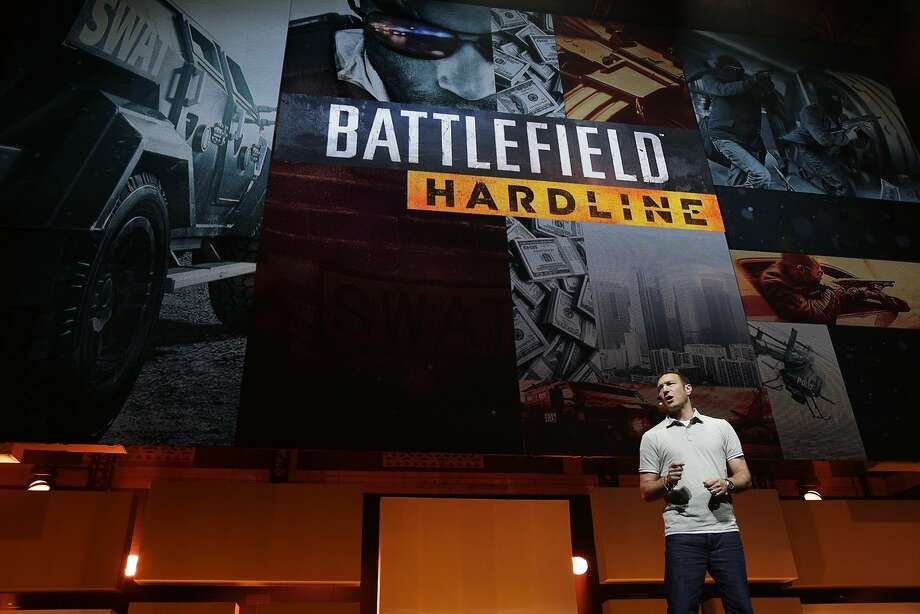 Steve Papoutsis, Executive Producer of Visceral Games, introduces Battlefield Hardline during the Electronic Entertainment Expo press conference at Shrine Auditorium June 9, 2014 in Los Angeles, California. The annual video game conference and show runs from June 10-12.  Photo: Dan R. Krauss, Getty Images