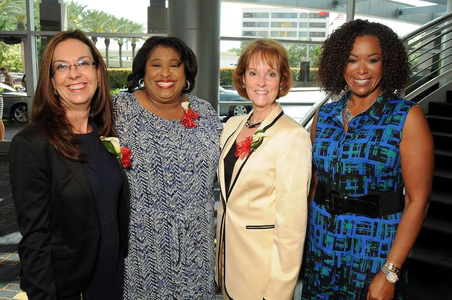From left: Veronica Foley, chair June Deadrick, Sue Rogers and Deborah Duncan Photo: Dave Rossman, For The Houston Chronicle