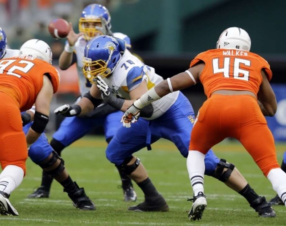 David Quessenberry was a standout at San Jose State before entering the NFL. Photo: Alex Brandon, Associated Press