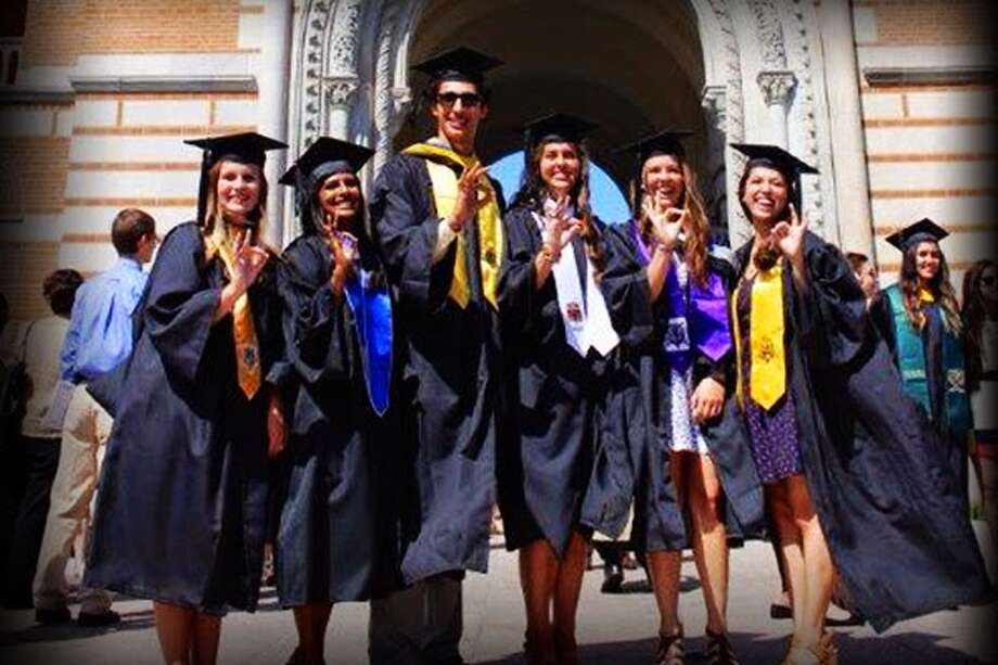 The six 2010 Stratford High graduates who completed Rice University degrees include: (Photograph from left to right) Kelsey Devine - Bachelor of Science, Ecology and Evolutionary Biology; Raaji Asaithambi - Bachelor of Arts, Mathematical Economical Analys