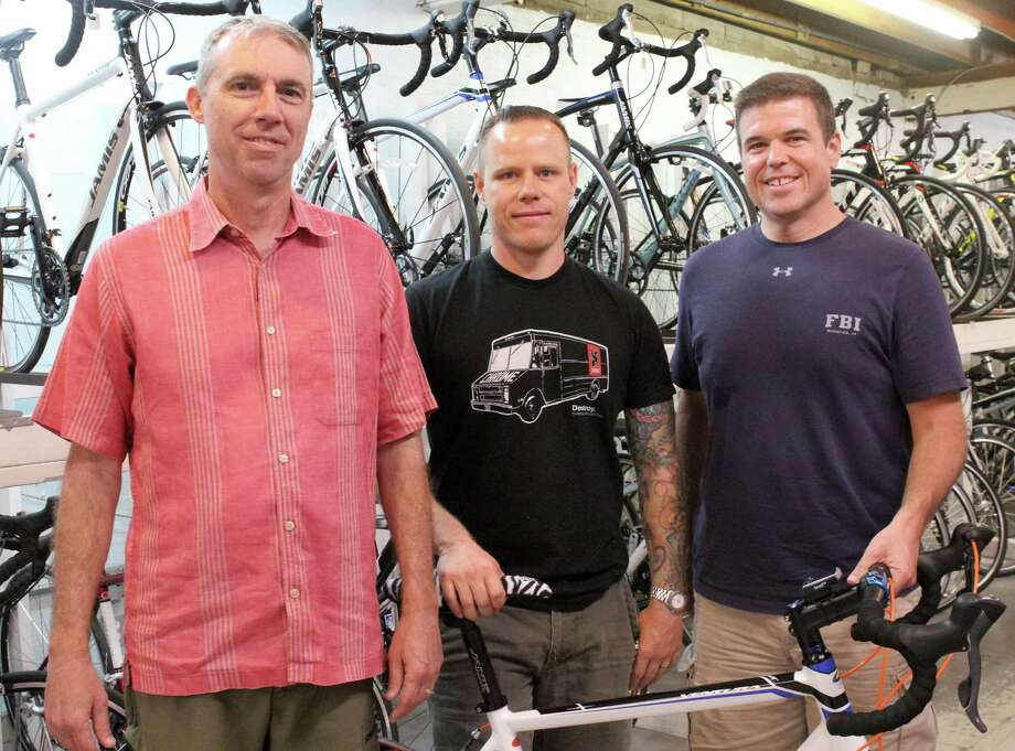 Ron Kerr, left, Fred Kapalac and David Chaney will ride across Rwanda June 18-22 to increase awareness of the 20th anniversary of the Rwandan genocide. Photo: Ana Goni-Lessan