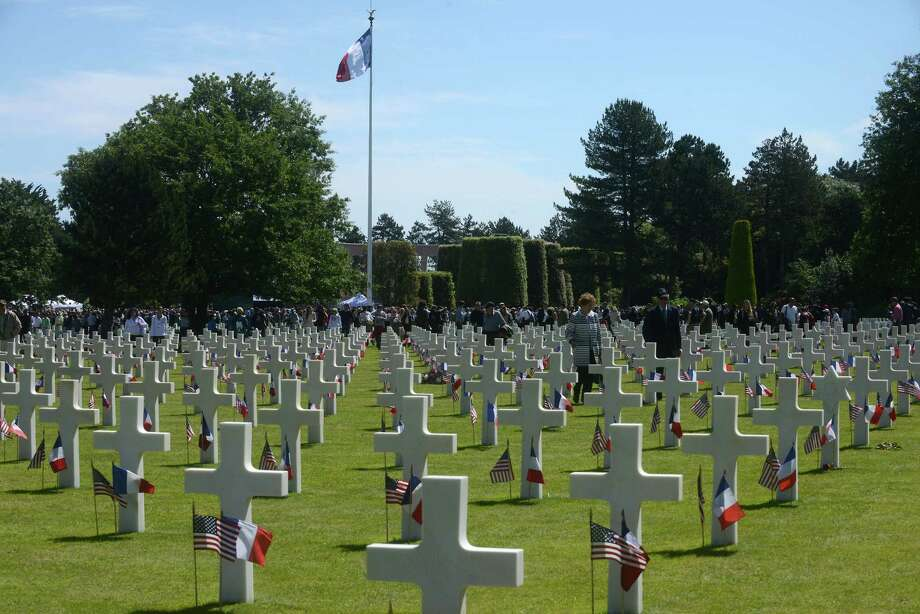 The Normandy American Cemetery in Colleville-sur-Mer, France was the site June 6 for ceremonies remembering the bloody fighting that occurred when  Allied forces invaded the beaches under fire from Nazi troops. Photo: Antoine Antoniol, Stringer / 2014 Getty Images