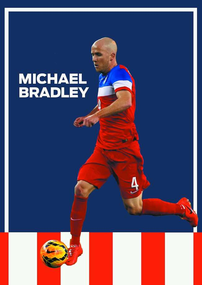 Michael Bradley: USAThe crank on the U.S. engine, Michael Bradley he holds the key to the nation's World Cup drive if it is to be long into the tournament. The midfielder exudes grace and power in equal measure. Give him space to run and he'll produce the opening the forwards need to seal victory. (AP Photo: Rick Scuteri) Photo: Luis Rendon, The Chronicle