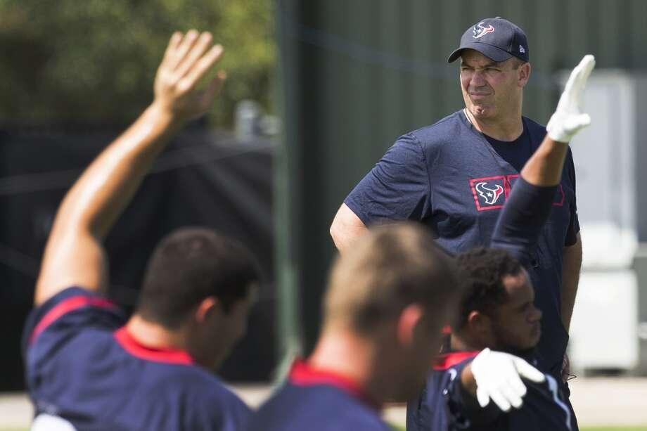 Texans head coach Bill O'Brien watches practice. Photo: Brett Coomer, Houston Chronicle