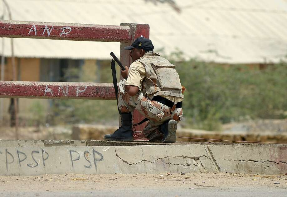 A Pakistan ranger takes part in a search operation for three gunmen near the Karachi airport. Photo: Rizwan Tabassum, AFP/Getty Images