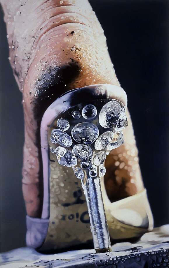"Marilyn Minter's ""Strut"" (1948, enamel on metal), from SFMOMA'S collection, is part of ""Gorgeous, "" a new exhibition at the Asian Art Museum in partnership with SFMOMA. Photo: Sfmoma"