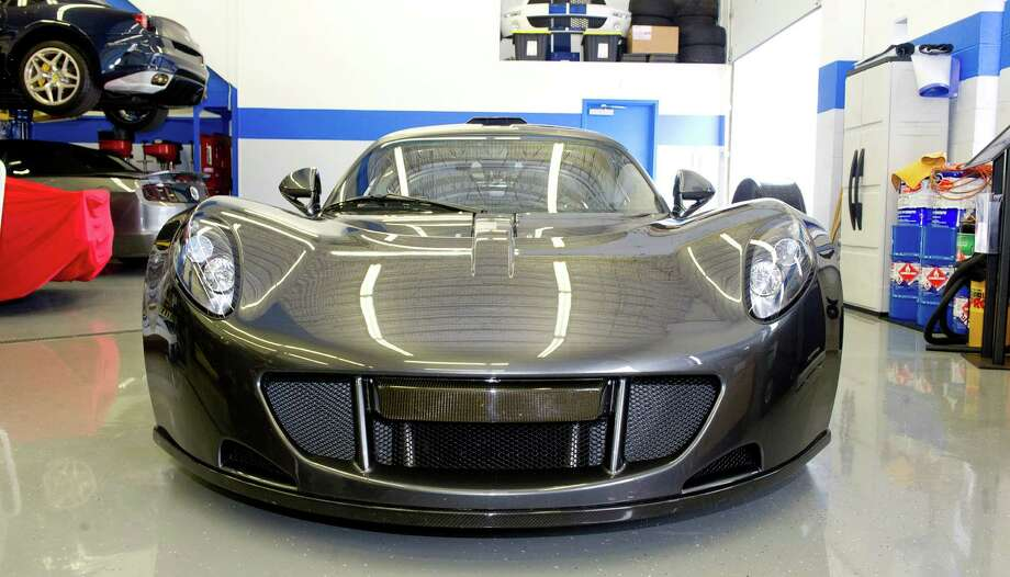 The Hennessey Venom GT which broke the world record for fastest production car in the world at 270.49 miles per hour as well as the world record for fastest 0-250 mile per hour car sits at P1 Motorcars in Stamford, Conn., on Tuesday, June 10, 2014. Only 29 of the cars will be produced. Photo: Lindsay Perry / Stamford Advocate
