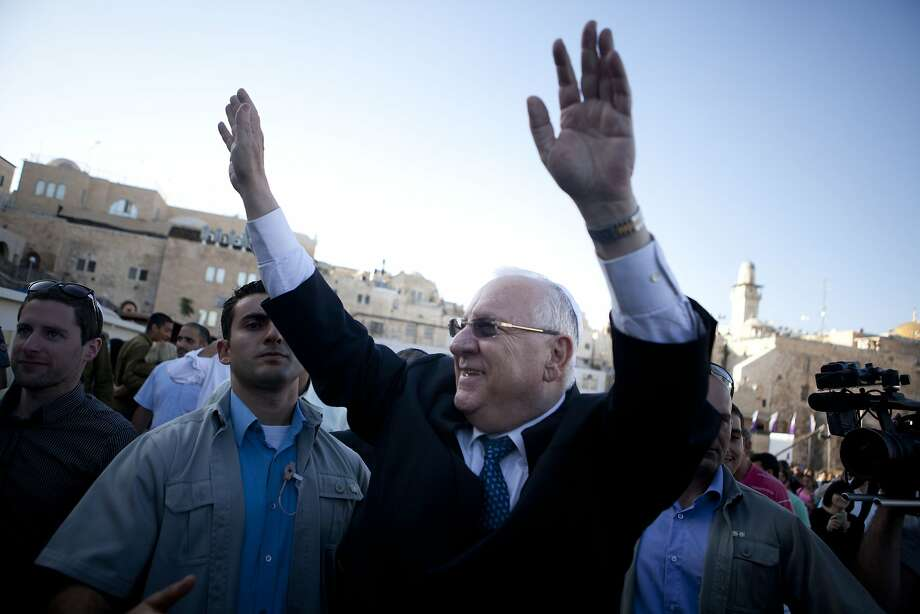 JERUSALEM, ISRAEL - JUNE 10:  (ISRAEL OUT) Israel's newly elected President and former minister and Knesset speaker Reuven Rivlin waves as he leaves the Western Wall on June 10, 2014 in Jerusalem, Israel.   Reuven Rivlin was elected Israel's 10th president on Tuesday, receiving the support of 63 Knesset members in a runoff vote against  Meir Sheetrit.Rivlin will be ceremoniously sworn in as first citizen of Israel on July 24, 2014, replacing outgoing President Shimon Peres.  (Photo by Lior Mizrahi/Getty Images) *** BESTPIX *** Photo: Lior Mizrahi, Getty Images