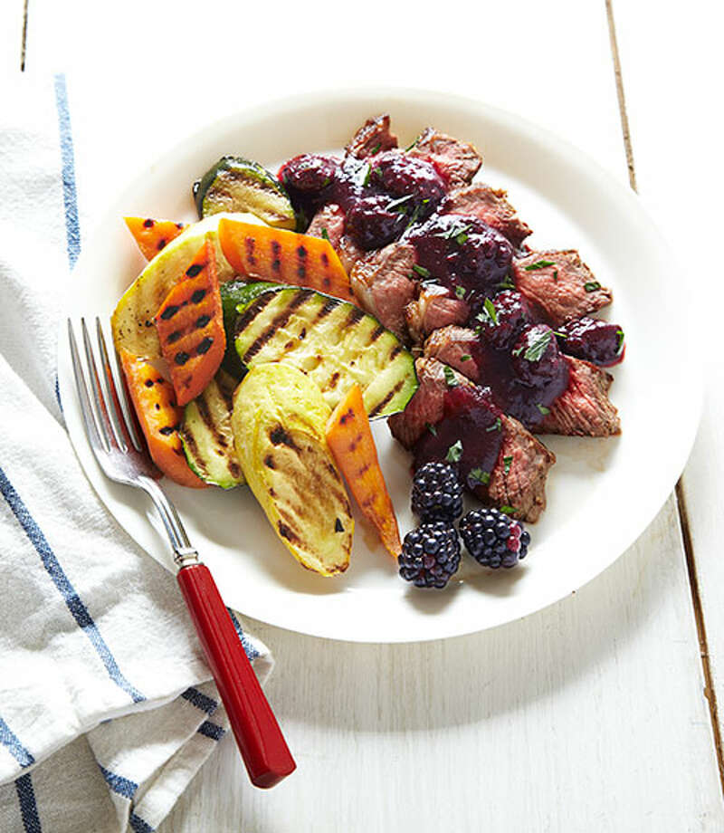 Rosemary-Rubbed Strip Steak with Blackberry Sauce From Good Housekeeping Photo: Kate Mathis / Copyright:Kate Mathis Photography, Inc.