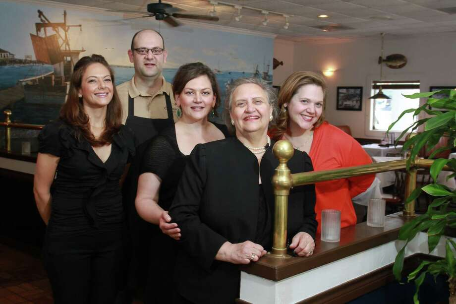 Maria Christie, from left, Terry Christie, Kathy Christie Dasigenis, Alexandra Christie and Roula Christie keep the family tradition going at Christie's Seafood and Steaks. Photo: Gary Fountain, Freelance / Copyright 2014 by Gary Fountain