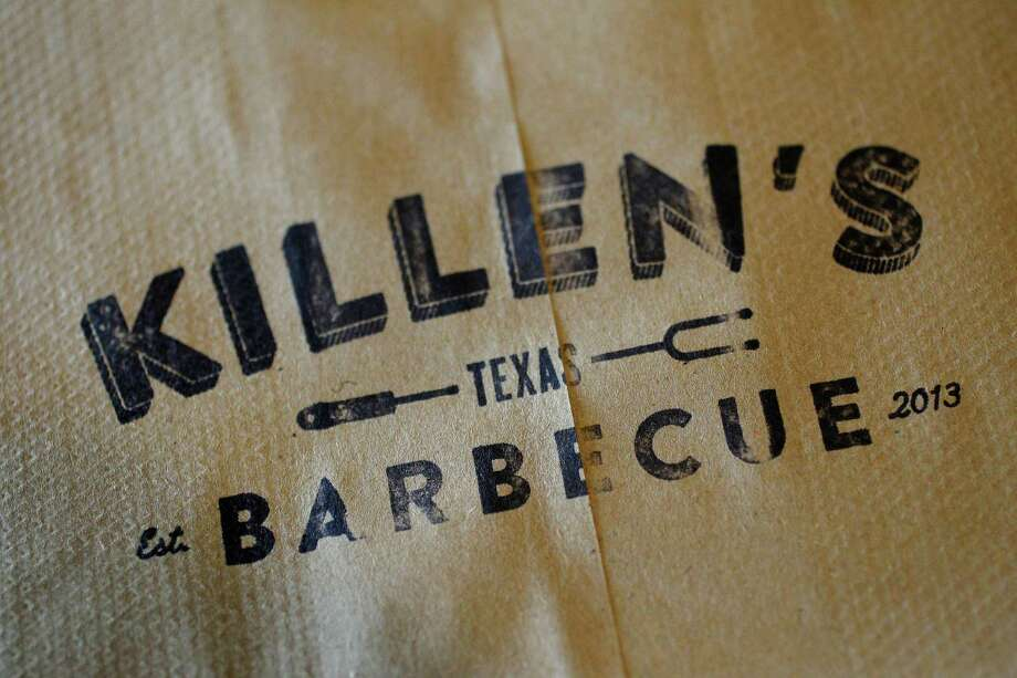 Detail of a paper bag at Killen's Barbecue in Pearland.  Photo: Karen Warren, Staff / © 2014 Houston Chronicle