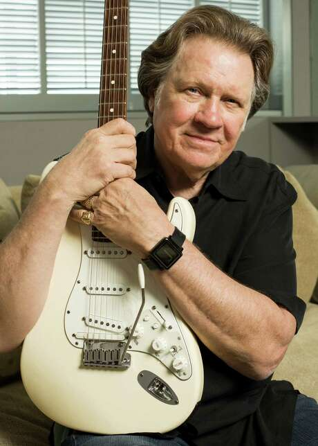 "Mark James, a Houston native, will be inducted into the Songwriter's Hall of Fame thursday. Although he had a few successful regional singles here in the 1960s, he made his mark as a songwriter, starting with Hooked on a Feeling, which was covered by BJ Thomas. James is best known for writing ""Suspicious Minds"", one of Elvis Presley's best-known songs, and he also won a Grammy for writing ""Always on My Mind"", popularized by Willie Nelson.  He was photographed on Wednesday, May 14, 2014 in West Hollywood, CA. (Roman Cho/Photographed for Houston Chronicle) Photo: Roman Cho / ©Roman Cho"