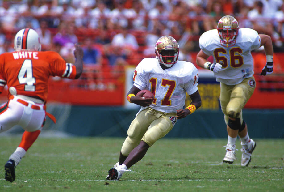 Florida State – No. 17 (Charlie Ward) Photo: Focus On Sport, Getty Images / 1992 Focus on Sport