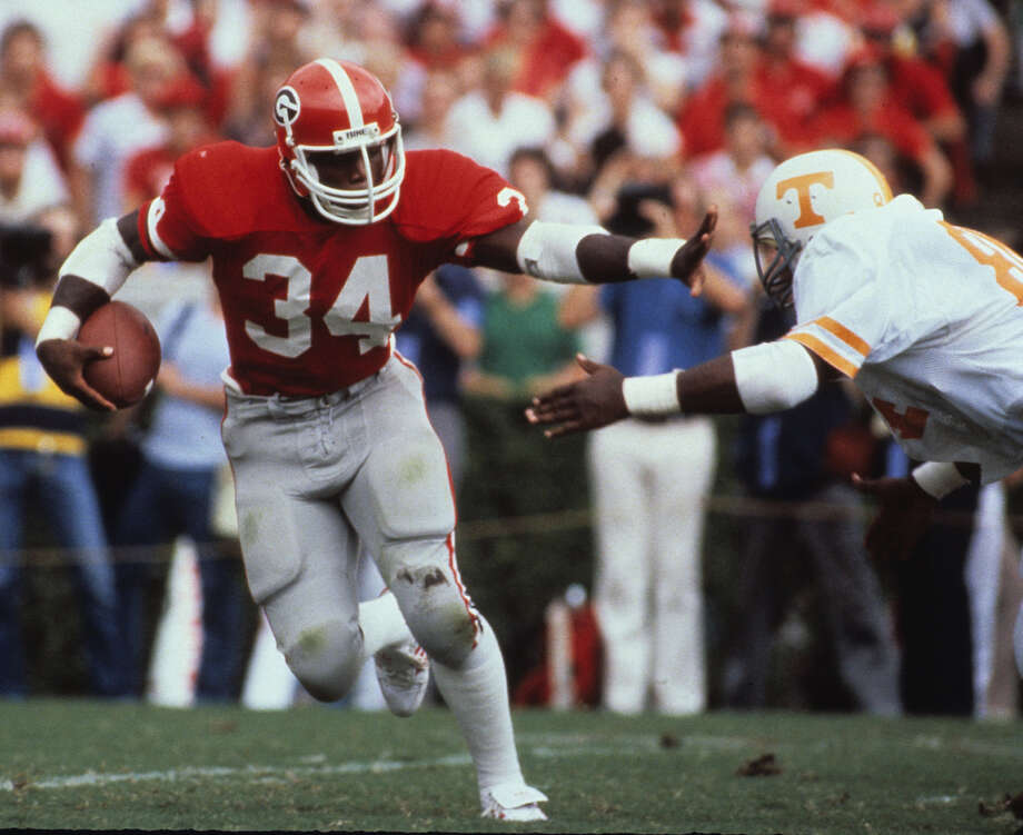 Georgia – No. 34 (Herschel Walker) Photo: Ronald C. Modra/Sports Imagery, Getty Images / 1981 Ronald C. Modra/Sports Imagery