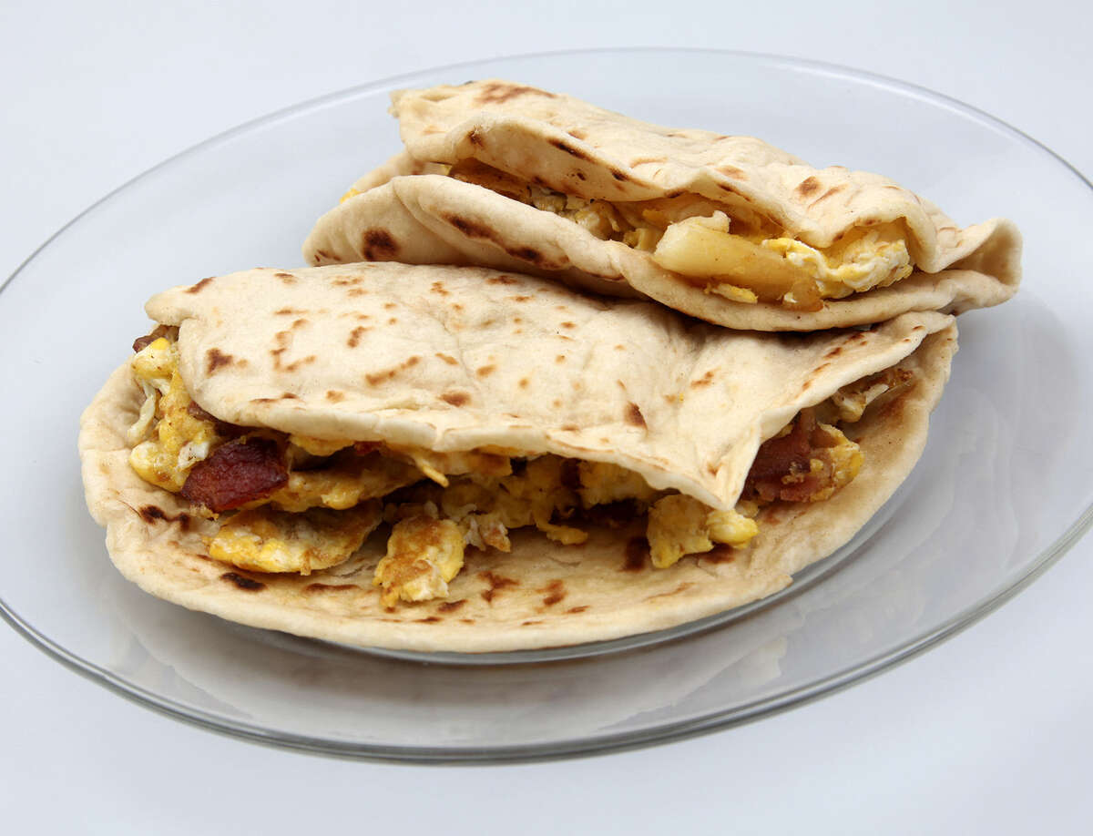 Taqueria Chapala Jalisco's breakfast tacos are thick, hearty and delicious.