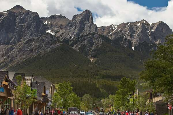 Main Street in Canmore.