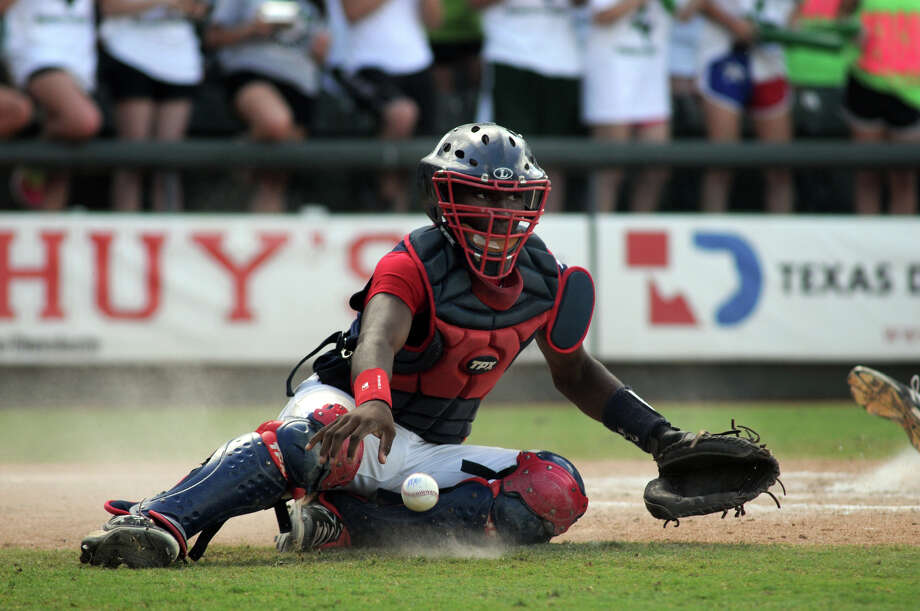 Atascocita freshman catcher Alerick Soulaire is part of the Eagles' bright future, as the team came two wins away from a Class 5A state championship this season. Photo: Jerry Baker, Freelance