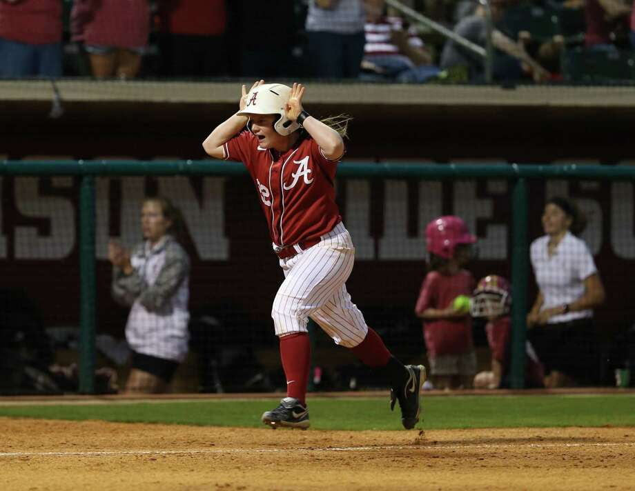 Clear Brook graduate Molly Fichtner realized a dream this spring playing in the Women's College World Series for Alabama. Photo: COURTESY UNIVERSITY OF ALABAMA, Student Photographer / UA Athletics