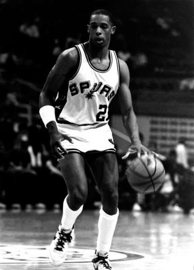 San Antonio Spurs  1st round - 7th overall  Alvin Robertson - University of Arkansas 4-time All-Star, 1986 NBA Defensive Player of the Year. Robertson played for four teams during his 12-year career. He is one of four players to register a quadruple-double (20 points, 11 rebounds, 10 assists and 10 steals while playing for the Spurs in 1986) and is the only player to record the feat with steals as the fourth category (the others were done with blocks). He also scored the first points in Raptors franchise history. Photo: NBA Photos, NBAE/Getty Images / 1984 NBAE