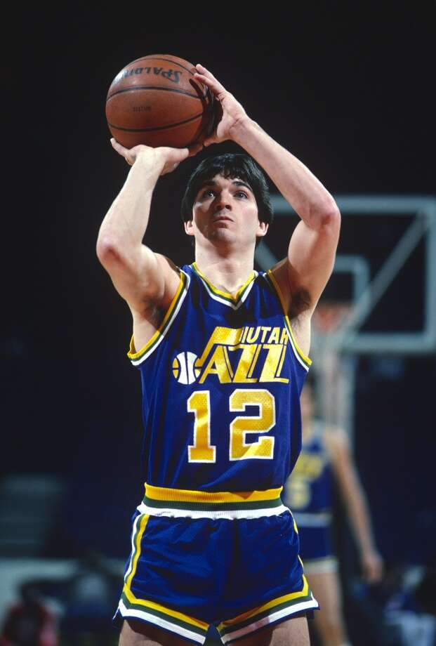 Utah Jazz  1st round - 16th overall  John Stockton - Gonzaga University  10-time All-Star, NBA's all-time assists leader (15,806), NBA's all-time steals leader (3,265). Stockton recorded five of the top six assist seasons in NBA history, holds the NBA record for most seasons, games and consecutive games played with one team. He is third all-time in total games played and missed only 23 games in his 19-year career (18 in one season). He recorded 20 or more assists in 38 games. He is a member of the Basketball Hall of Fame. Photo: Focus On Sport, Getty Images
