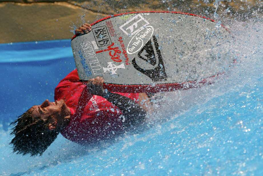 Cody Allen competes Tuesday June 10, 2014 at  Schlitterbahn waterpark in New Braunfels in the 2nd annual Boogie Bahn Classic Surf Competition. Photo: William Luther, San Antonio Express-News / © 2014 San Antonio Express-News