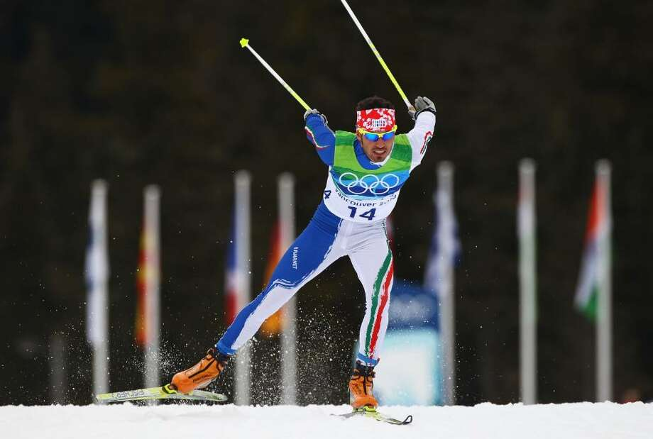 WHISTLER, BC - FEBRUARY 15:  Thomas Moriggl of Italy competes during the Cross-Country Skiing Men's 15 km Free on day 4 of the 2010 Winter Olympics at Whistler Olympic Park Cross-Country Stadium on February 15, 2010 in Whistler, Canada.  (Photo by Alexander Hassenstein/Getty Images) *** Local Caption *** Thomas Moriggl Photo: Alexander Hassenstein, Getty Images / 2010 Getty Images