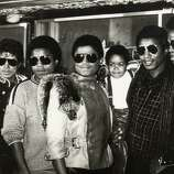 The Jackson Five had a few reunions after Michael Jackson became hugely successful as a solo act. Here, Marlon Jackson, Michael Jackson, Tito Jackson, Randy Jackson, Jackie Jackson and Jermaine Jackson of The Jacksons with Emmanuel Lewis (3rd right) attend Victory Tour Press Conference on November 30, 1983 at Tavern on the Green in New York City.