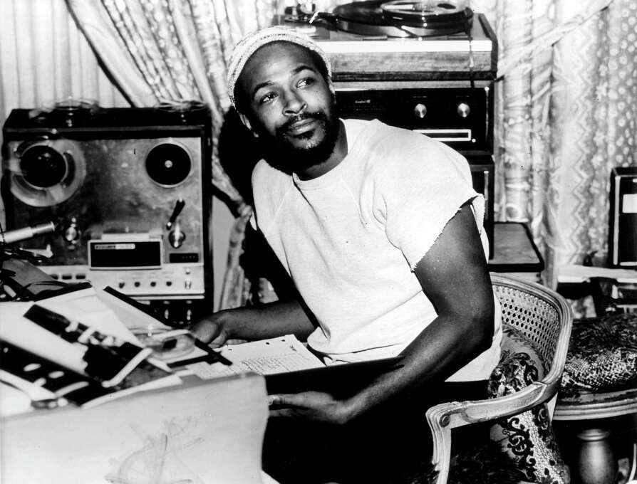 "Marvin Gaye produced some of the most iconic songs and albums of the Motown era, from his cover of ""Heard it Through the Grapevine"" (1968), to ""Let's Get It On"" (1973) on to arguably his most important work, ""What's Going On"" in 1971. Here, Gaye sits in the studio in 1971.  Photo: Gems, Getty / Redferns"
