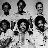 "The Commodores peaked in the 1970s with hits like ""Easy,"" ""Brick House,"" and ""Three Times a Lady."" They'd return to the top of the charts in 1985 with their album, ""Nightshift"" and titular single. From back to front, right to left, it's Walter Orange, Ronald La Pread and Milan Williams, Thomas McClary, Lionel Richie and William King in 1970"